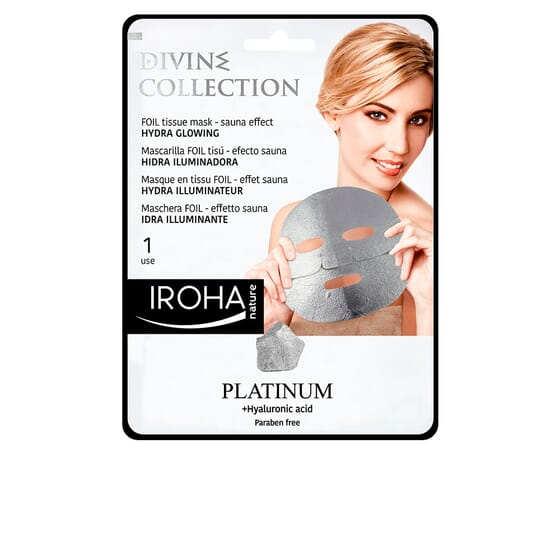 Platinum Tissue Hydra-Glowing Face Mask 1 Use de Iroha