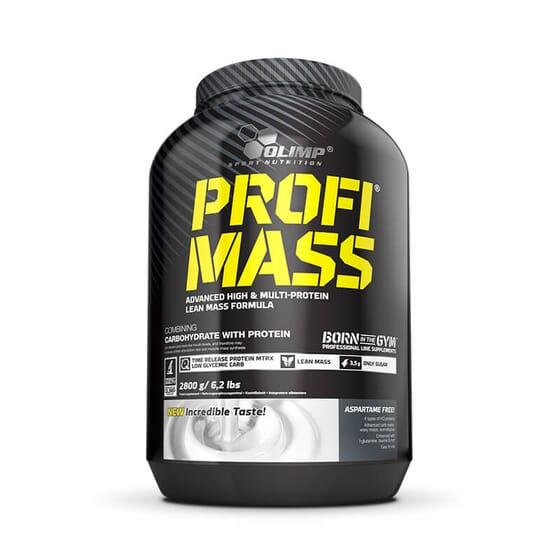 Profi Mass est une mélange concentrée de protéines et d'hydrates de carbone.