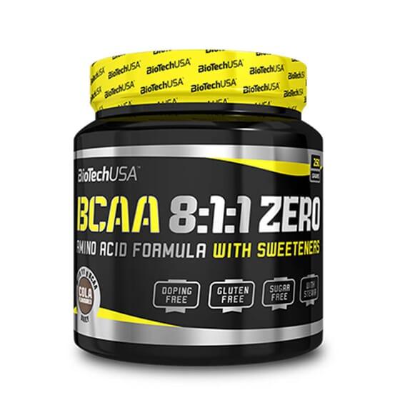 Bcaa 8:1:1 Zero contient des acides aminés à chaîne ramifiée.