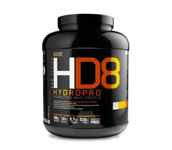 HD8 Hydropro fournit des protéines de lactosérum hydrolysées.