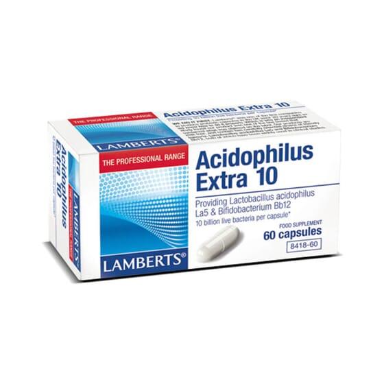 Acidophilus Extra 10 equilibra la flora intestinal.