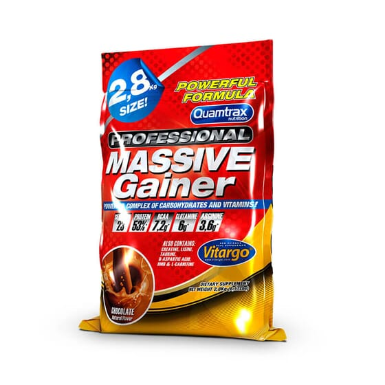 Massive Gainer Professional potencia el aumento de peso y masa muscular.