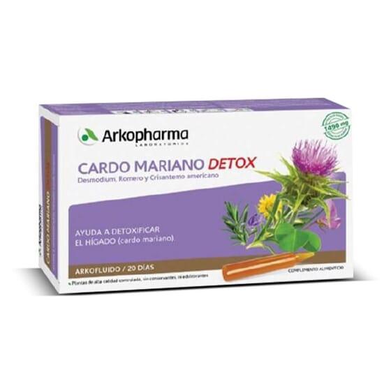 Arkofluide Chardon-marie Detox contribue à faciliter le fonctionnement hépatique.