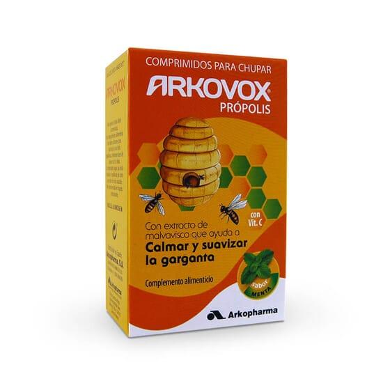 Arkovox Propolis Menthe soulage et adoucit la gorge.