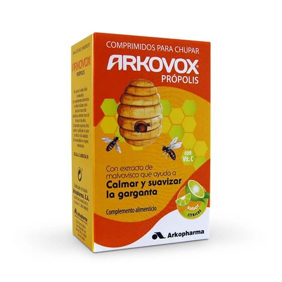 Arkovox Propolis Agrumes soulage et adoucit la gorge.