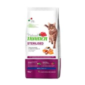 Natural Gato Adulto Esterilizado Salmón 10 Kg de Trainer