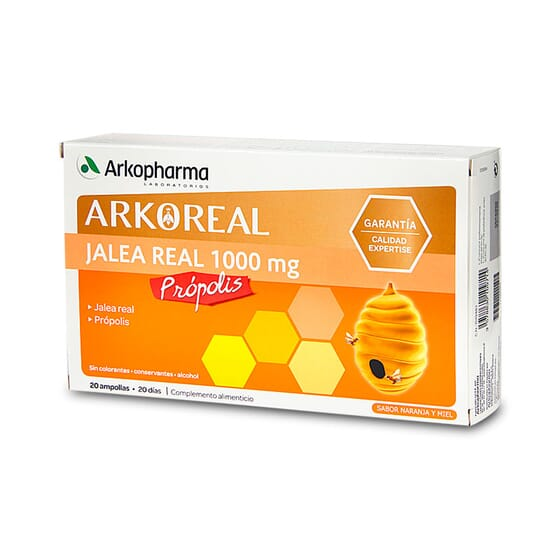 Arkoreal Gelée Royale 1000mg + Propolis renforce vos défenses.
