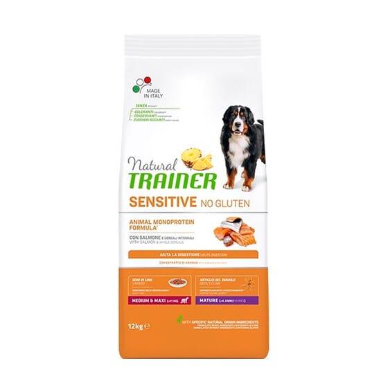 Natural Sensitive Sem Glúten Cão Adult Medium-Maxi Borrego 12 Kg da Trainer