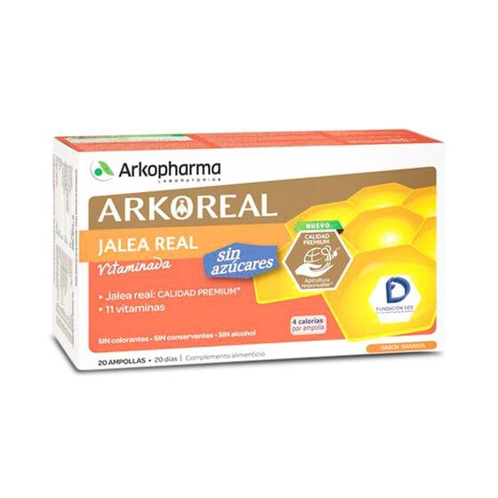 Arkoreal Gelée Royale Vitaminée Sans Sucre - Énergie et vitalité au quotidien.