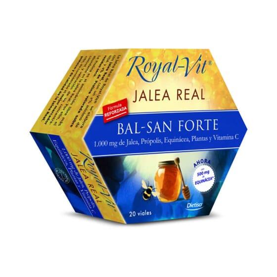 Gelée royale Royal Vit-Bal-San Forte contient de la gelée royale de haute qualité.