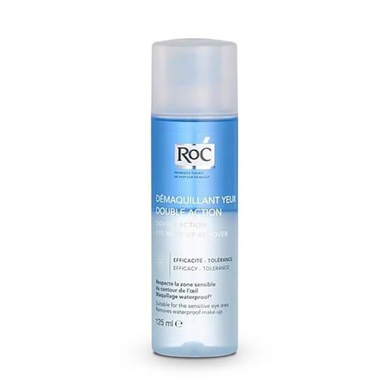 Roc Démaquillant Yeux Double Action enlève toutes les traces de maquillage de manière efficace.