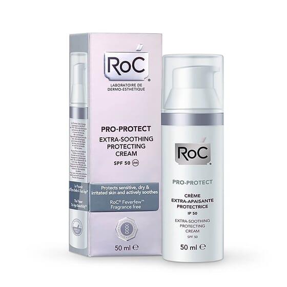 Roc Pro-Protect Crème Extra-Apaisante Protectrice SPF50 50 ml pour les peaux sensibles ou irrité