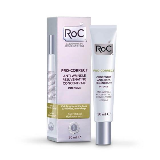 Roc Pro-Correct Concentré Anti-Rides Régénérant Intensif rends votre visage plus jeune.