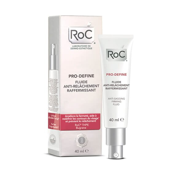 Roc Pro-Define Concentrado Antiflacidez Reafirmante efecto lifting duradero.