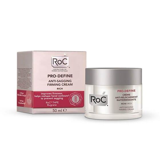 Roc Pro-Define Crème anti-relâchement raffermissante améliore la fermeté et redéfinit le visage.