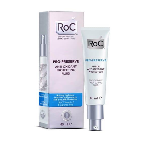 Roc Pro-Preserve Fluido Protector Antioxidante mantiene la hidratación de la piel.