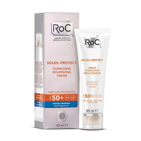 Avec Roc Soleil-Protect Crème hydratante désaltérante SPF 50+ vous aurez une peau hydratée et ra