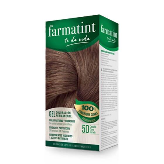 Vos cheveux plus lumineux et naturels que jamais avec Farmatint Gel 5D Châtain Clair Doré.