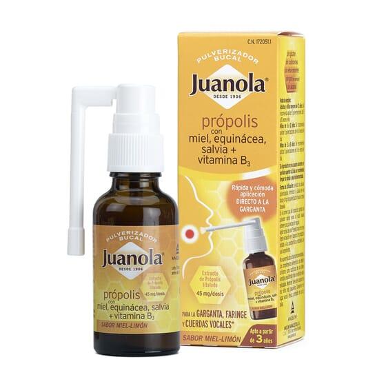 Juanola Spray Buccal Propolis prend soin de votre gorge.