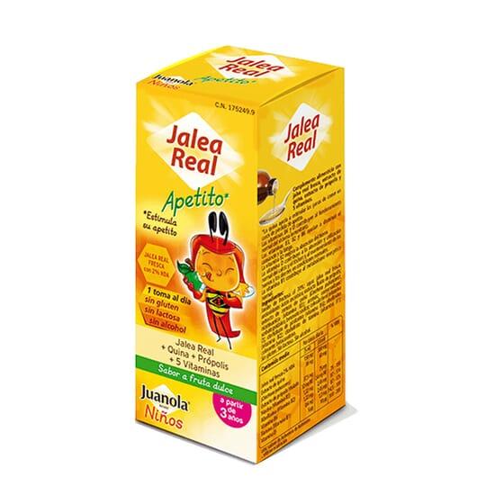 Juanola Gelée Royale Appétit stimule l'envie de manger des enfants.
