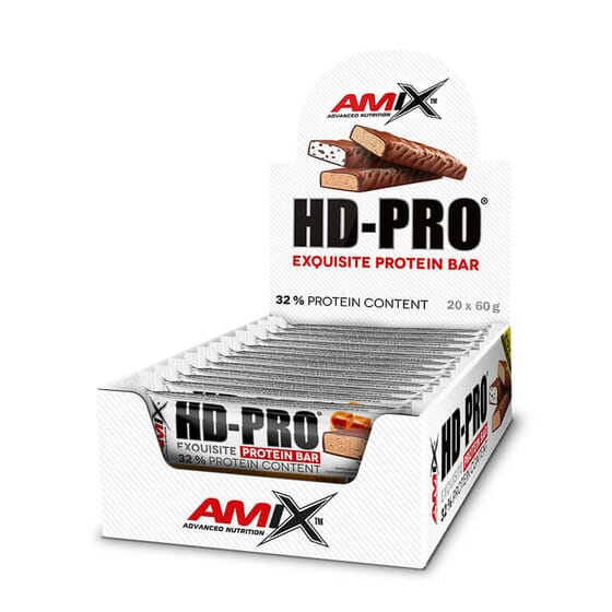 Les barres HD-Pro de Amix contiennent 32% de protéines.