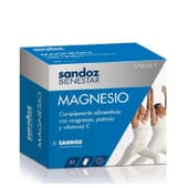 Sandoz Bem-Estar Magnésio 30 Saquetas da Sandoz Bienestar