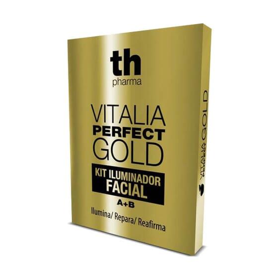 Essayez Vitalia Perfect Gold Kit Illuminateur de Visage pour illuminer et raffermir la peau de v