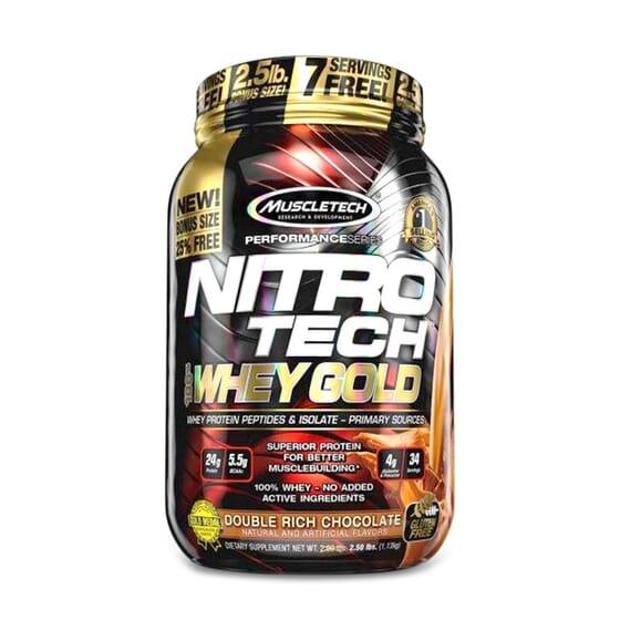 NITROTECH 100 % WHEY GOLD 1000 g de Muscletech