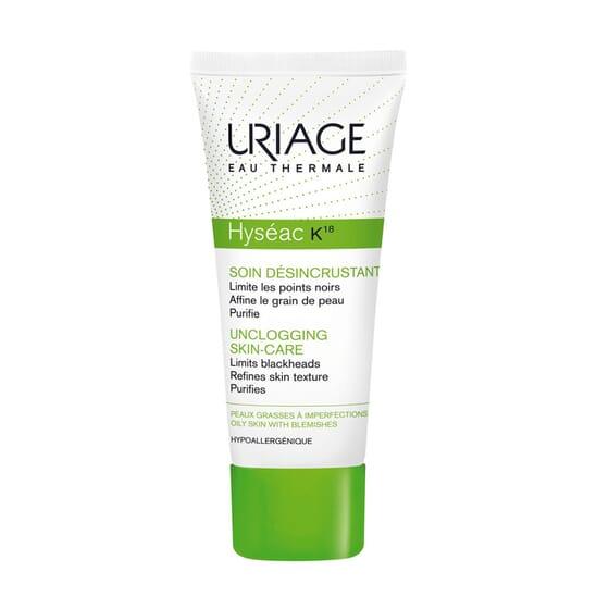 Hyséac K18 Soin Désincrustant est une émulsion qui désincruste, désobstrue et resserre les pores