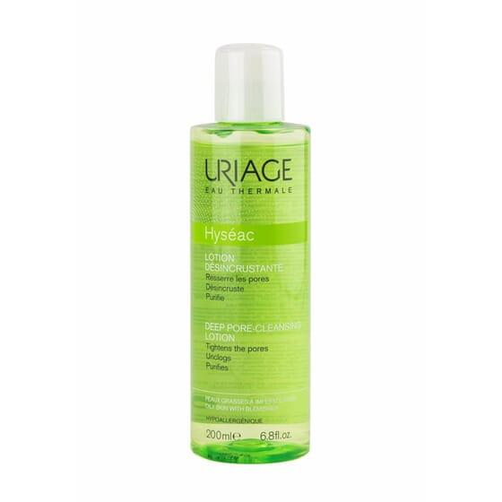 Hyséac Lotion Desincrustante purifie et matifie la peau.