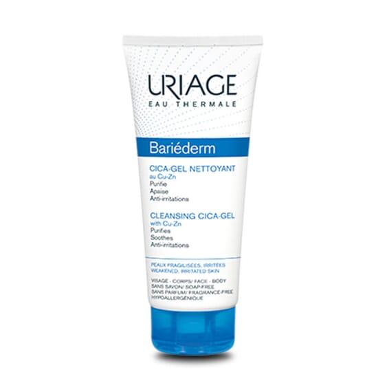 Bariéderm Cica-Gel Nettoyant nettoie et désinfecte les peaux irritées.