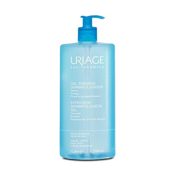 Gel Surgras Dermatologique nettoie en douceur la peau sensible.