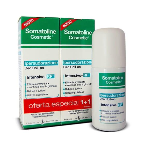 Somatoline Cosmetic Déodorant Hyper-Transpiration Intensif Roll-On réduit la transpiration.
