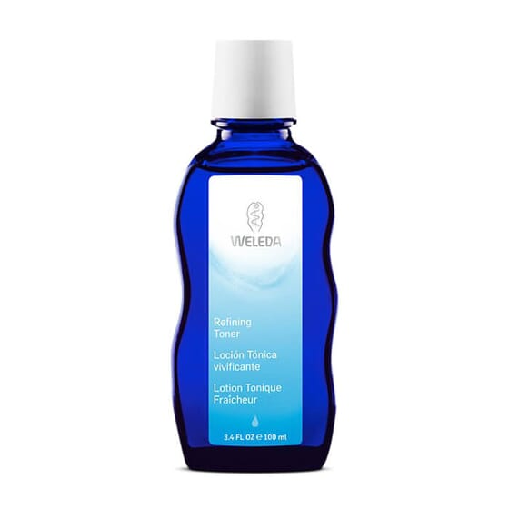 Loción Tónica Vivificante refresca la piel después de la limpieza.