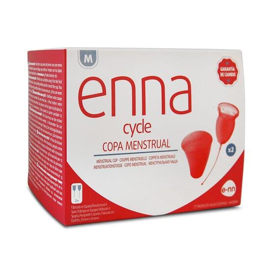 Enna Cycle Copa Menstrual está fabricada con silicona biodegradable.