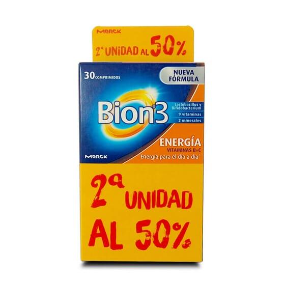 La nouvelle formule de Bion3 Énergie est riche en vitamines B et C.