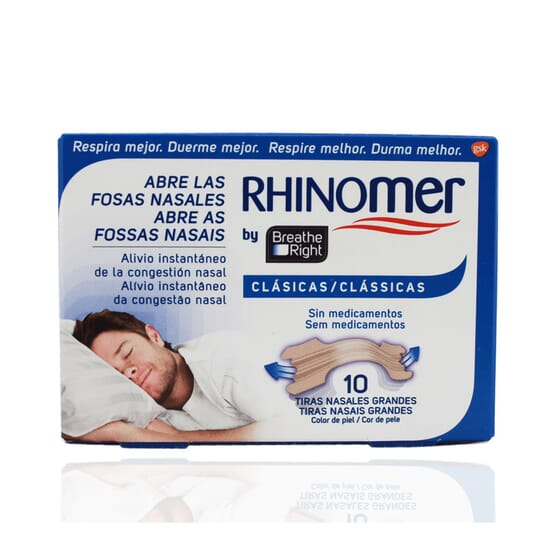 BREATHE RIGHT ORIGINAL BANDELETTES NASALES TAILLE PETITE/MOYENNE 10 Unités de Rhinomer