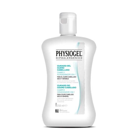 Physiogel Shampooing et Après-Shampooing 2 en 1 nettoie et nourrit avec douceur.