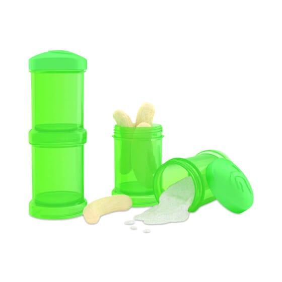 Doseur Vert pour transporter la nourriture des bébés en toute sécurité.