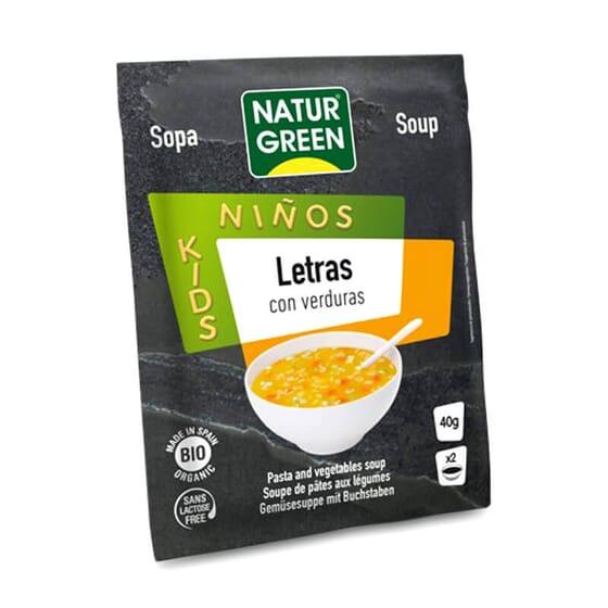 Soupe de Lettres aux Légumes Bio ne contient pas de lactose.