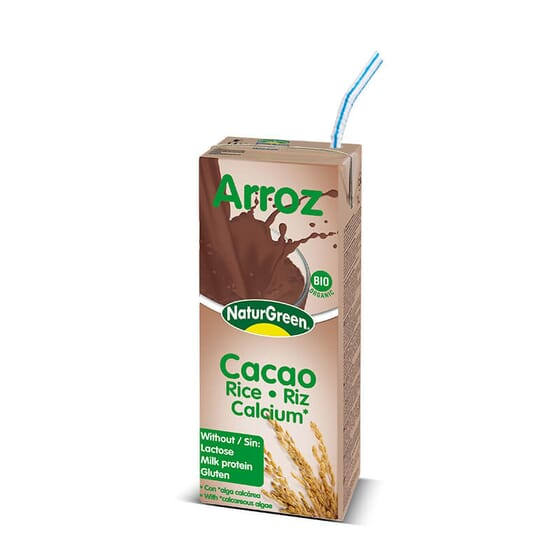 Bebida de Arroz Cacau Bio é sem glúten e sem lactose.