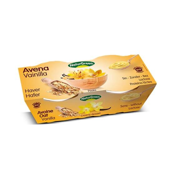 El Postre Avena Vainilla Bio de NaturGreen está libre de lactosa.