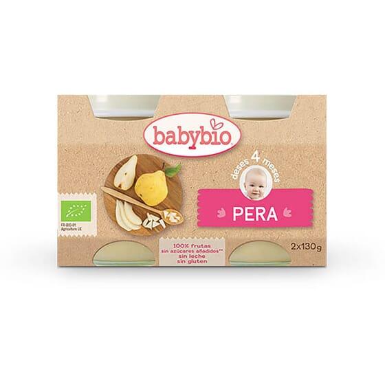 Babybio Fruit Poire 100% pour les bébés à partir de 4 mois.