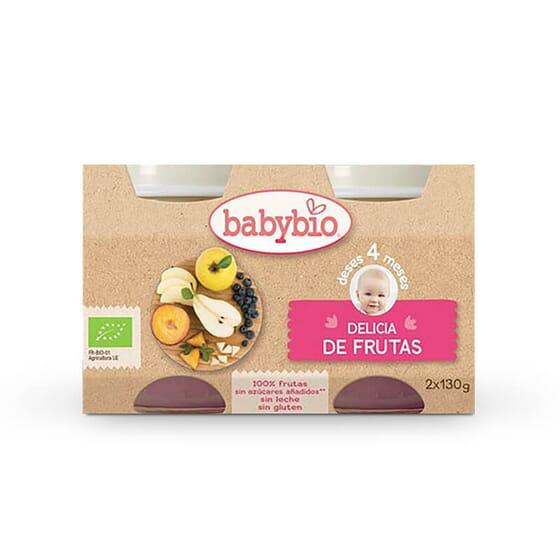 O Babybio Delícia de Frutas é feito com ingredientes cuidadosamente selecionados.