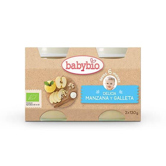 Babybio Douceur Pomme et Biscuit est idéal pour les bébés dès 6 mois.