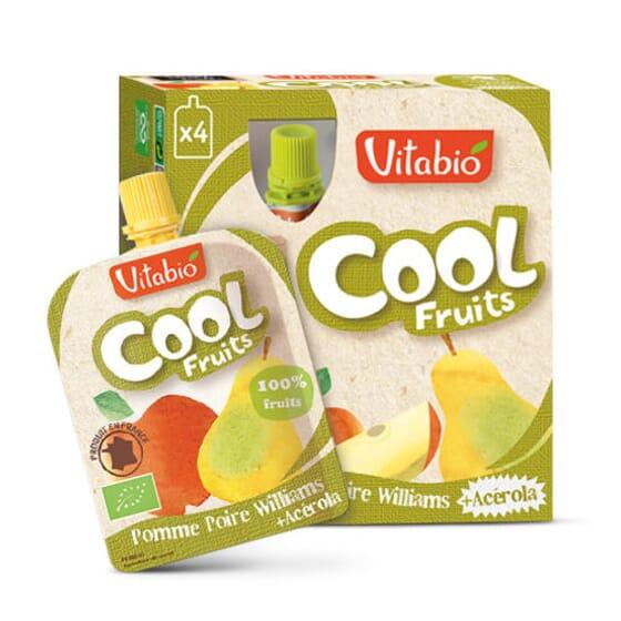 Vitabio Cool Fruits Pomme et Poire, une façon ludique et pratique de manger des fruits.