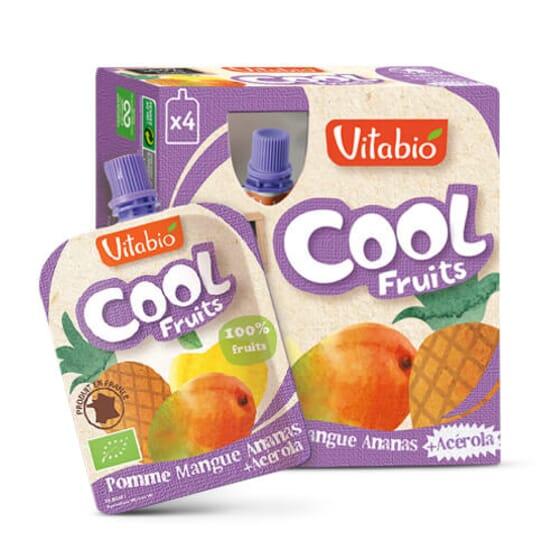 Vitabio Cool Fruits Pomme, Mangue et Ananas + Acérola les fruits à emporter.