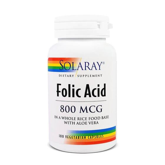 O Ácido Fólico 800mcg da Solaray é vital para o bom estado do feto.
