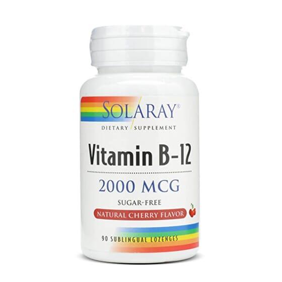 La Vitamine B12 2000mcg de Solaray vous procure un apport quotidien de cette vitamine.