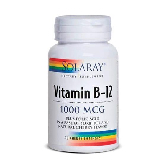 Vitamine B12 1000mcg renforcé d'acide folique.